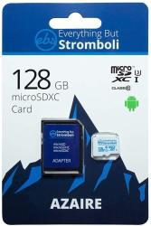 Everything But Stromboli 128GB Azaire Microsd Memory Card Plus Adapter Works With Samsung Galaxy Phones S Series S10 S10+ S10E S9 S9 S8 S7
