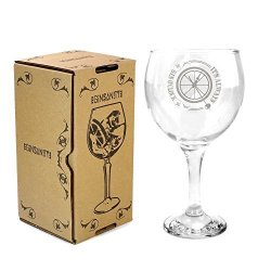 GinSanity 22OZ 645ML Gin Balloon Glass Cocktail - Its Always Gin O'clock With Giftbox