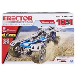 Meccano Rally Racer 10-IN-1 Building Kit 159 Parts Stem Engineering Education Toy For Ages 10 And Up