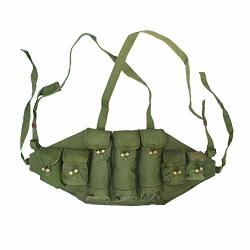 Home Daily Original Military Surplus Chinese Type 56 Chest Rig Ak 47 Pouch Ammo Mag Bandolier