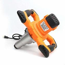 ELECTRIC Denestus Hand Held Mixer Handheld Pro Double Auger Professional Mixer For Industrial Concrete Plaster Paint Cement Mortar Adjustable Speed Twin Paddle 1600W Us