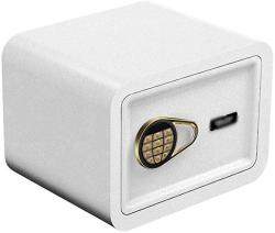 USA Wangjunxiu Safes Small Value Safe Digital Keypad LED Light Indicators 22 Mm Steel Locking Bolts Fireproof Home Office Safe Safe Box Color : White