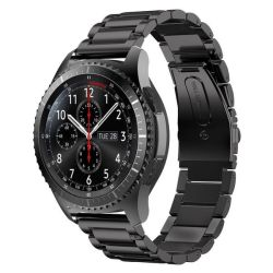 Link Bracelet Band For Samsung S3 Frontier classic Watch - Black