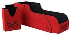 USA Dragon Shield Nest 300+ Plus Red & Black Durable Magnetic Leather Deck & Dice Box Case Protector