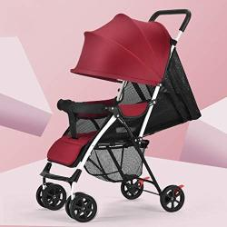 Lightweight Stroller One Hand Fold 5-POINT Harness Baby Carriage Pushchair Suitable For Airplane-b