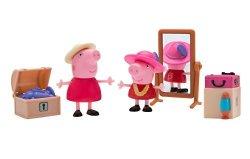 Jazwares Domestic Peppa Pig Little Rooms Attic Granny Pig Peppa And Grandpa Pig
