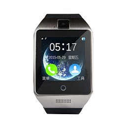 """Powerrider Apro Smart Watch 1.54"""" Touch Screen 240240PX Wristwatch With Camera Support Sim Card Bluetooth Waterproof Smart Watches For Andorid Smartphones Silver"""