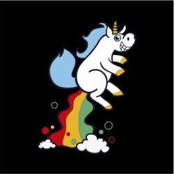 Unicorn Fart Mens Black T-Shirt Xx-large