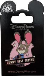USA Disney Pin - Judy Hopps - Zootopia - Bunny Best Friend