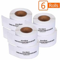 "6 Roll Dymo 30327 Compatible 1-UP File Folder Labels 9 16"" X 3-7 16"" Direct Thermal Barcode Labels Filling Label For Labelwriter 400 450 Turbo 4XL 130 Labels Per Roll"