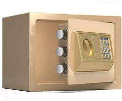 USA Zcf Security Safes MINI Safes Electronic Security Safe Box Password Keypad Key Lock For Home Office Hotel Use Jewelry Cash Valuables Storage Color :