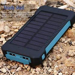 Table Office Accessories M And F 1PC 30000MAH Solar Power Bank Waterproof Solar Charger 2 USB Ports External Charger Powerbank F
