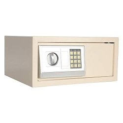Electronic Digital Security Safe Box 0.7 Cubic Feet Solid Steel Construction Keypad Drop Small Security Box Gun Cash Jewelry Box Wall-anchoring Design For Home