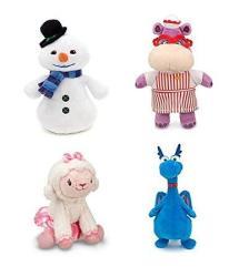 "Disney Junior Jr Doc Mcstuffins 8 1 4"" Chilly Beanbag Snowman And 8"" Hallie Hippo Bean Bag Plush Doll"