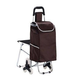 7a65c46a5535 Finecci Trolley Dolly Shopping Grocery Foldable Cart Supermarket Handcart 3  Wheel Utility Cart Travel Supplies With Seat Brown | R3275.00 | Office ...