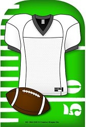 Creative Shapes Etc. Football Jersey Large Notepad