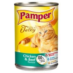 Pamper - Cat Food Can Chicken & Beef 385G