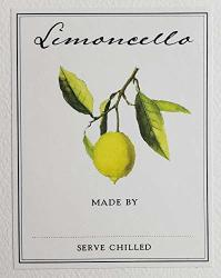 """Limoncello Labels - Pack Of 18. Size: 2 1 8"""" X 2 3 4"""