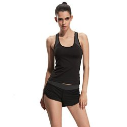 Autumn Melody Fashion Women Sports Running Vest Breathable Outdoor Yoga Tops Size XL Us