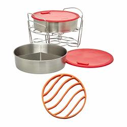 Instant Pot Cook bake Set With Pans Lids Racks Divider And Removable Base Bundle With Silicone Roasting Rack 2 Items