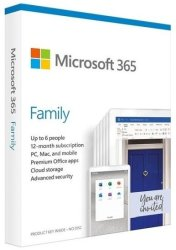Microsoft 365 Family English Subscr 1YR Medialess