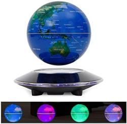 "TFCFL 6"" Maglev Floating Globe With Colorful LED Lights Magnetic Levitation World Map"