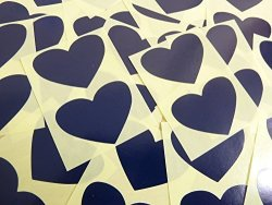 Minilabel 50X37MM Dark Navy Blue Heart Shaped Labels 40 Self-adhesive Color Code Stickers Sticky Hearts For Craft And Decoration