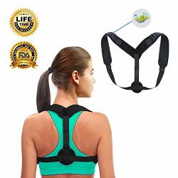 MOORAY Back Brace Posture Corrector For Men And Women Breathable And Adjustable Upper Back Brace - Posture Support Device For Hu