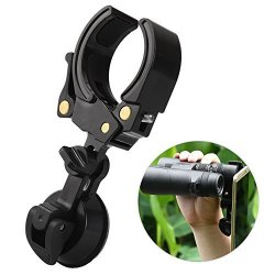 ALLCACA Universal Mobile Device Holder Telescope Sucker Cell Phone Adapter Mount Compatible With Binoculars Monocular Spotting S
