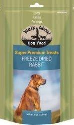 WALKABOUT PET TREATS Walkabout Freeze Dried Dog Treats Rabbit Recipe 4 Oz