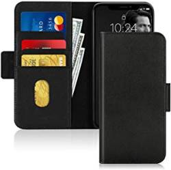FYY Iphone 11 Case Cowhide Genuine Leather Rfid Blocking Flip Wallet Phone Case Cover K