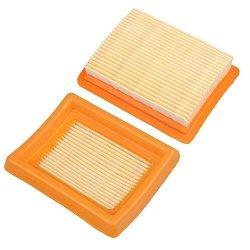 HIPA Pack Of 2 Air Filter Cleaner For Stihl FS120 FS200 FS250 FS300 FS350  FS400 FS450 String Trimmer Brush Cutter Size: 3-7 16 | R535 00 | Garden