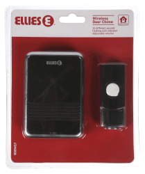 Wireless Door Chime With LED Black