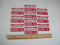 Security Signs 10 Home Security System Window Decals Stickers - Stock 703
