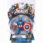 Hasbro Marvel The Avengers Assemble Captain America 4 Inch Action Figurine