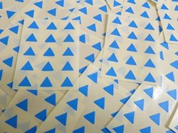 Small 10MM Triangular Mid Blue Color Code Stickers 150 Self-adhesive Sticky Colored Triangle Triangles Labels