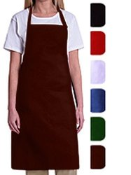 Bib Aprons-mhf APRONS-1 Piece PACK-2 Waist Pockets- New Spun Poly-commercial Restaurant Kitchen- Wine