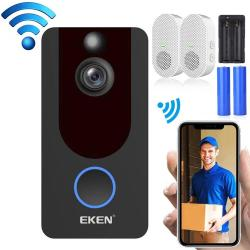Eken V7 1080P Wireless Wifi Smart Video Doorbell Support Motion Detection & Infrared Night Vision & Two-way Voice Package 4: Doorbell + 2 X