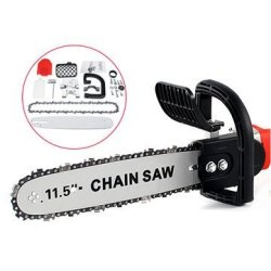 INCH 11.5 Electric Chainsaw Stand Adapter Bracket Change Wood Cut Set For Angle Grinder