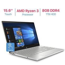 Hp Pavilion 15.6 Touchscreen HD Wled-backlit Display Laptop Amd Ryzen 3 2200U 2.5GHZ Processor Amd Radeon Vega 3 Graphics 8GB DD