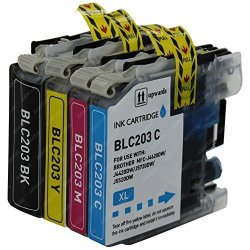 Brother ABACUS24-7 Compatible Replacements For LC203 Ink Cartridges And DCP-J4120DW MFC-J4420DW MFC-J460DW MFC-J480DW MFC-J485DW MFC-J5520DW MFC-J5720DW MFC-J680DW MFC-J885DW.. Printers - 4 Pack