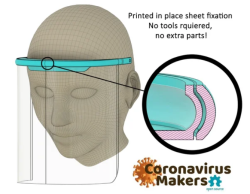 Face Shield Frame 4 Pack - Plastic Frames Only - Excludes Elastic And Transparent Shield