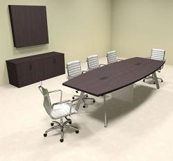 Modern Boat Shaped 10' Feet Conference Table OF-CON-CV12