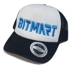 Bitmart Trucker Cap Black & White Uflex Snapback Trucker Cap