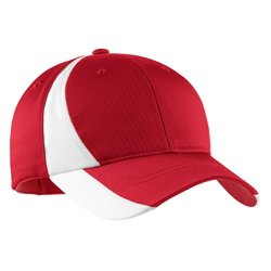 Sport-Tek Dry Zone Nylon Colorblock Structured Cap_true Red white_one Size