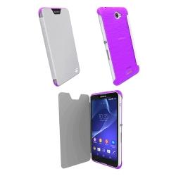 Krusell Bodenflip Cover For Sony Xperia E4 e4 Dual - Transparent Purple