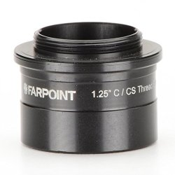"Farpoint Astro 1.25"" Nosepiece-to-c cs Mount Male Adapter FAP201"