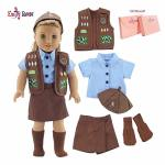 Emily Rose 18 Inch Doll Clothes For American Girl Dolls Doll Brownie Girl Scout Modern 5 Piece Uniform Outfit With Skort Gift