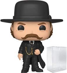 USA Funko Pop Movies: Tombstone Wyatt Earp 851 Pop Vinyl Figure Includes Compatible Pop Box Protector Case