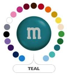MARS M&m's Teal Milk Chocolate Candy 1LB Bag